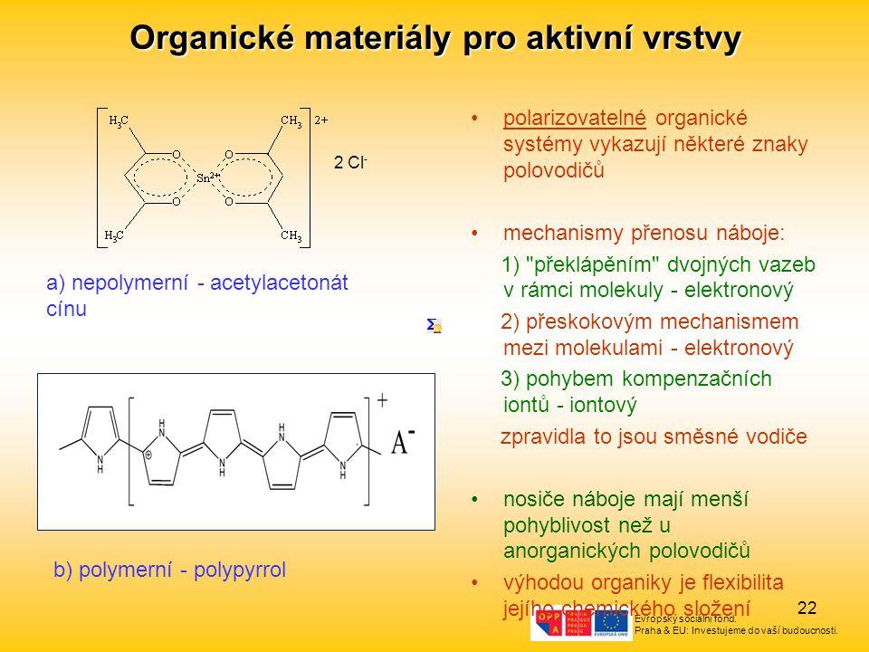 Organické materiály pro aktivní vrstvy