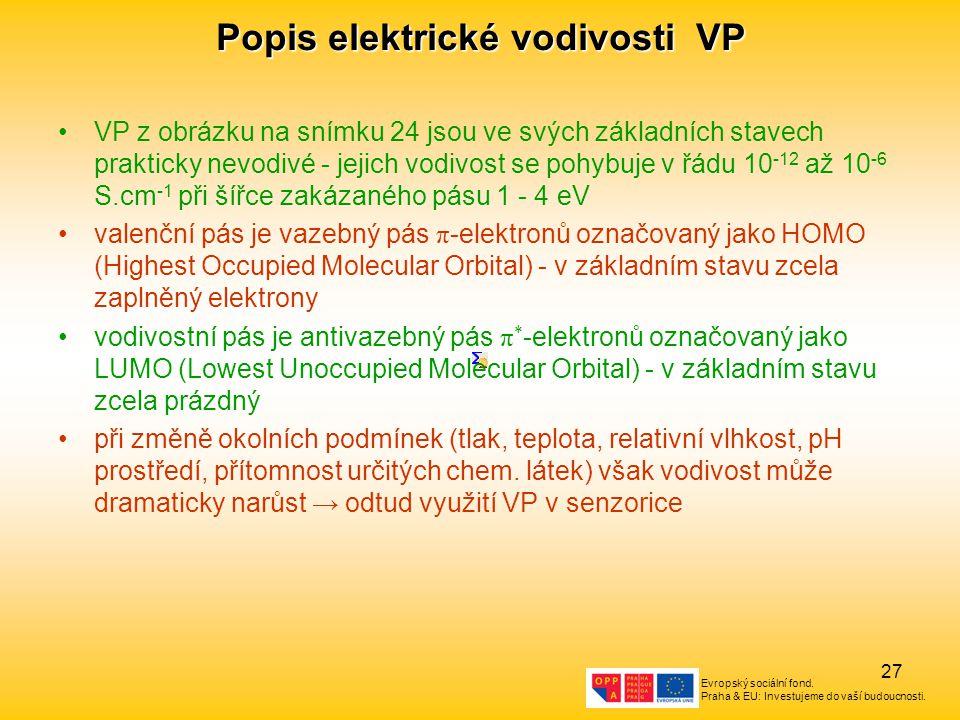 Popis elektrické vodivosti VP