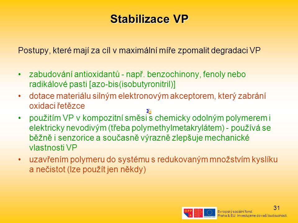 Stabilizace VP Postupy, které mají za cíl v maximální míře zpomalit degradaci VP.
