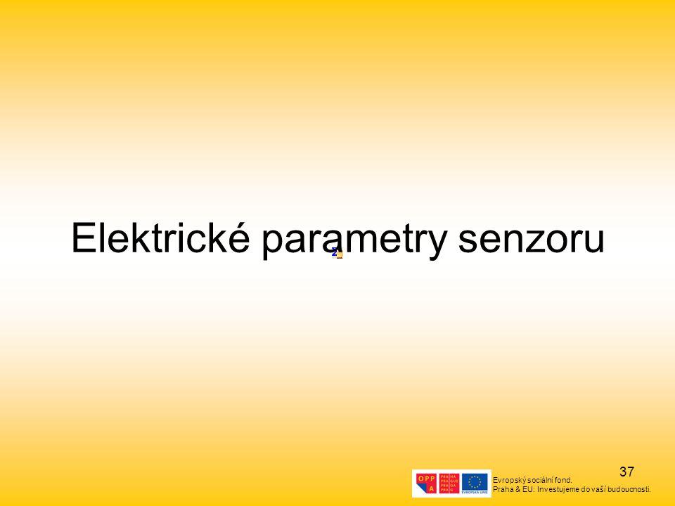 Elektrické parametry senzoru