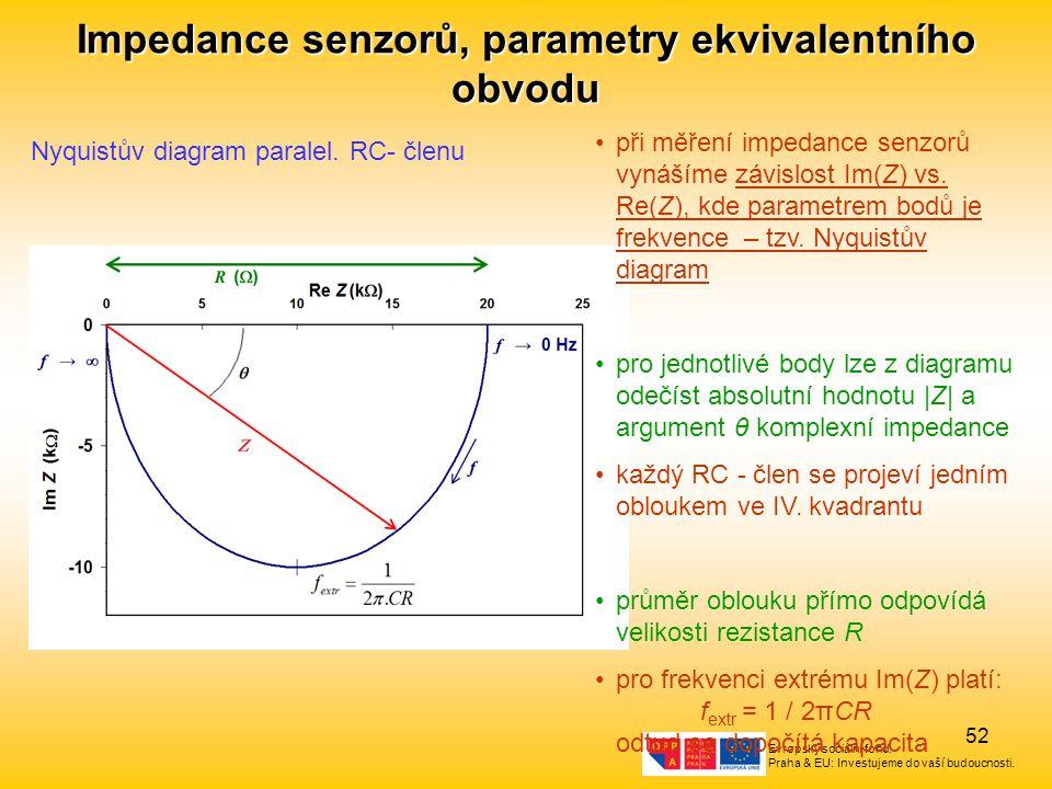 Impedance senzorů, parametry ekvivalentního obvodu