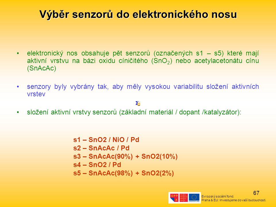 Výběr senzorů do elektronického nosu