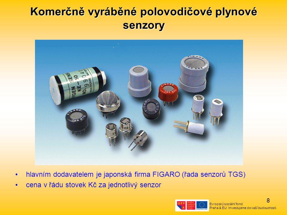 Komerčně vyráběné polovodičové plynové senzory
