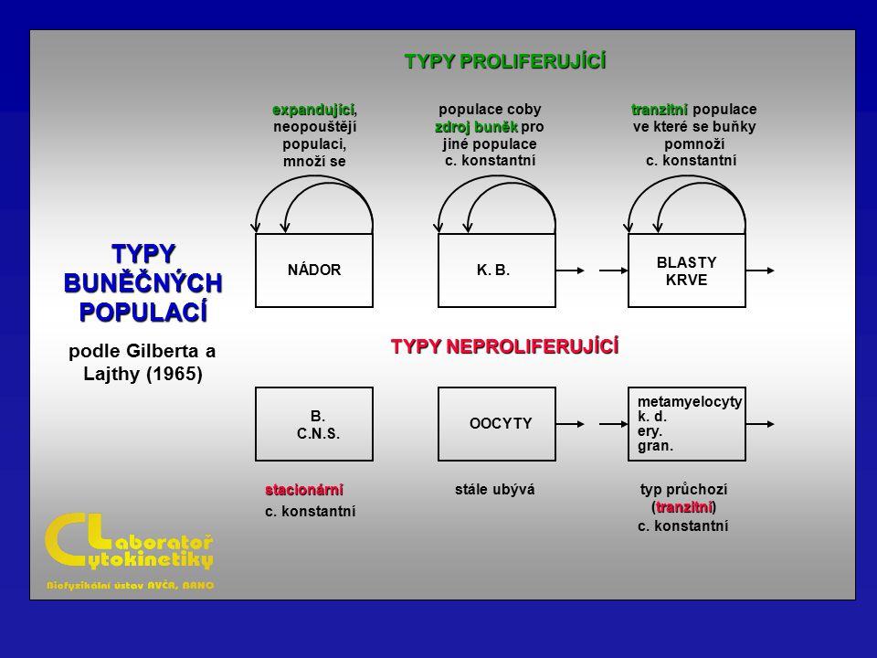 TYPY BUNĚČNÝCH POPULACÍ