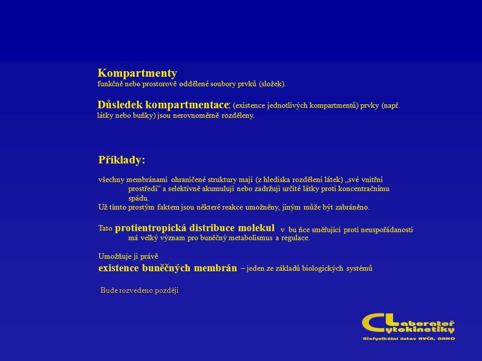 Kompartmenty D ůsledek kompartmentace : P říklady: