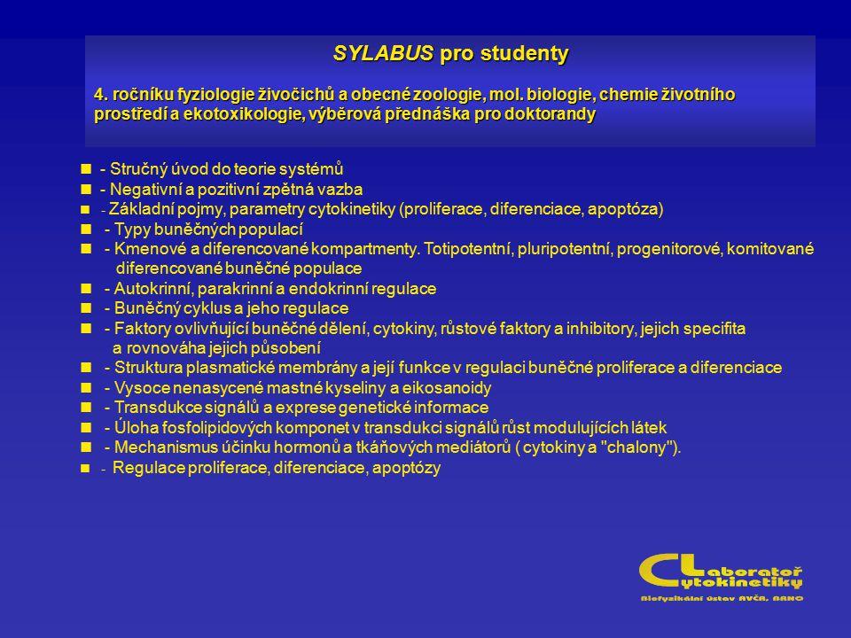 SYLABUS pro studenty