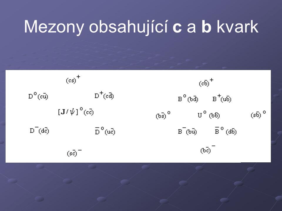 Mezony obsahující c a b kvark