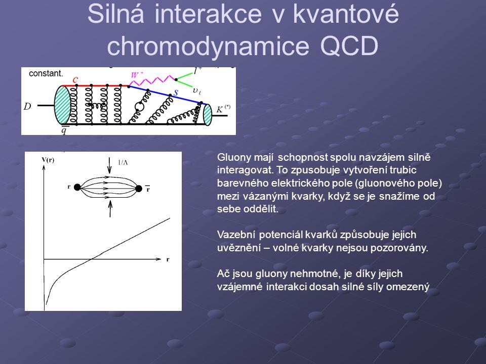 Silná interakce v kvantové chromodynamice QCD