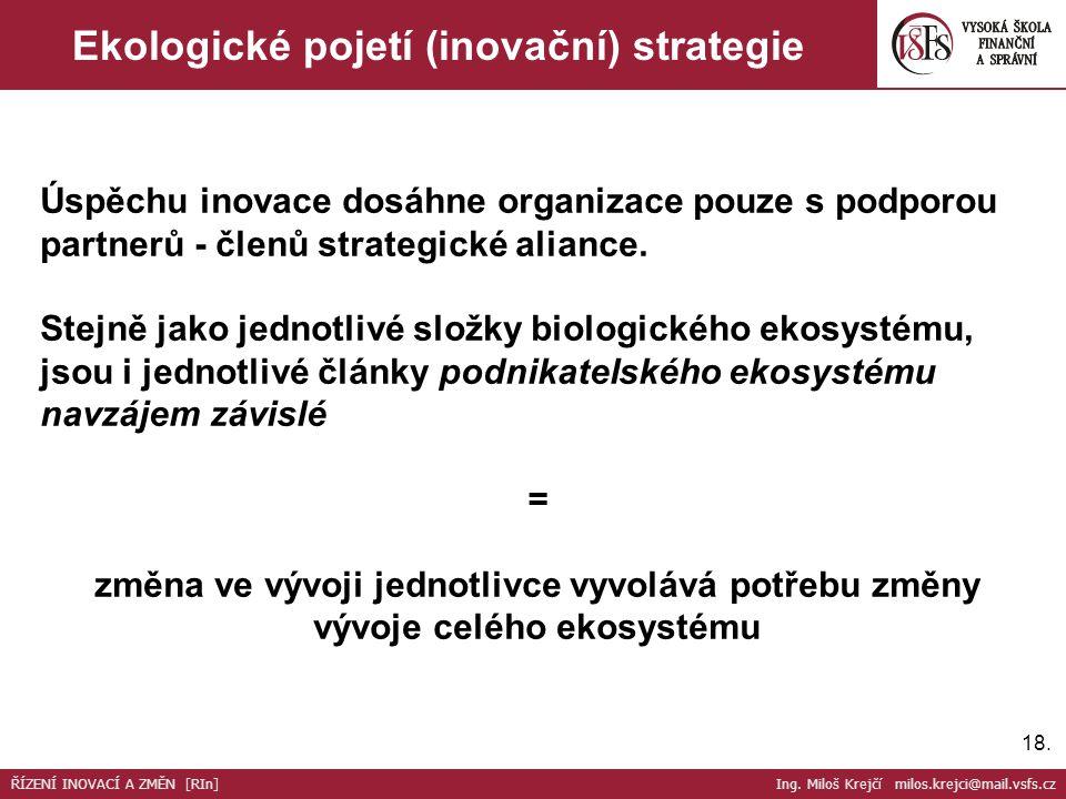 Ekologické pojetí (inovační) strategie