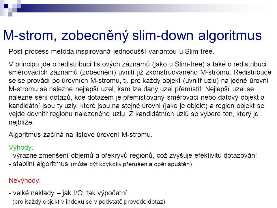 M-strom, zobecněný slim-down algoritmus