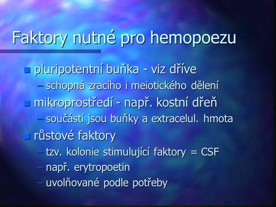 Faktory nutné pro hemopoezu