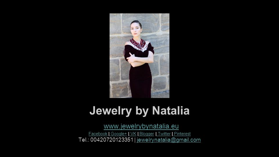 Jewelry by Natalia www.jewelrybynatalia.eu