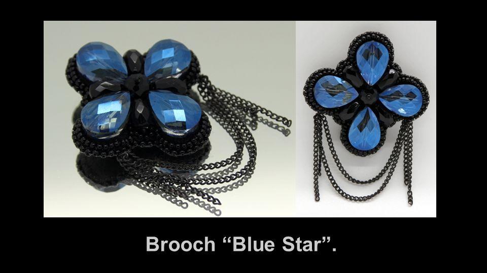 Brooch Blue Star .