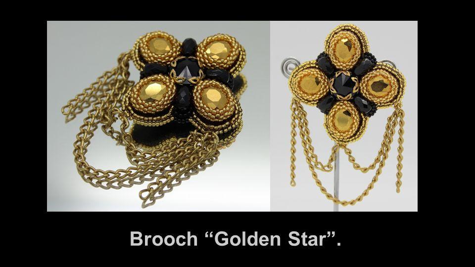 Brooch Golden Star .