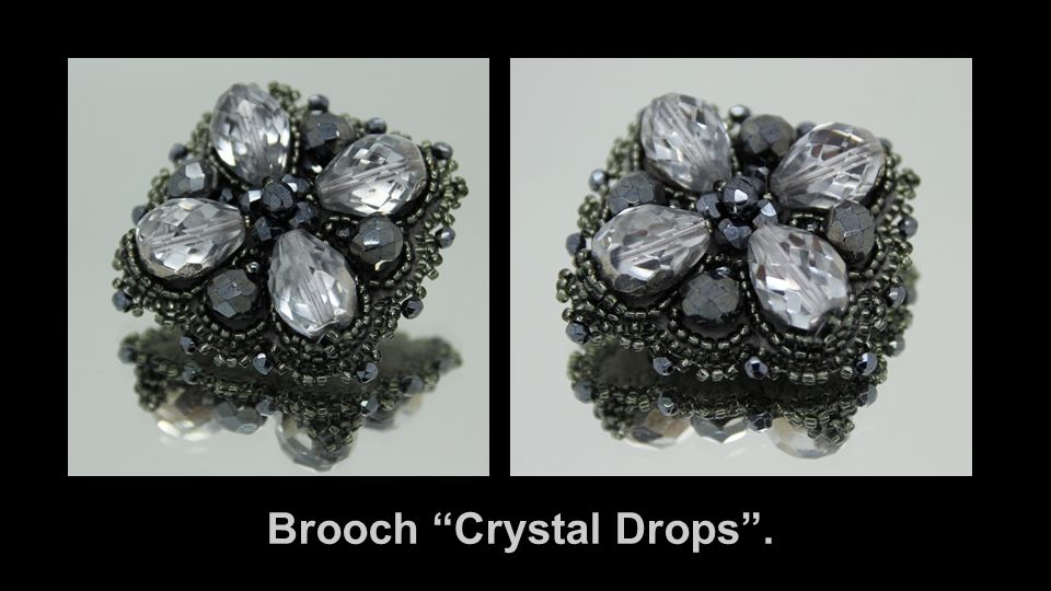 Brooch Crystal Drops .