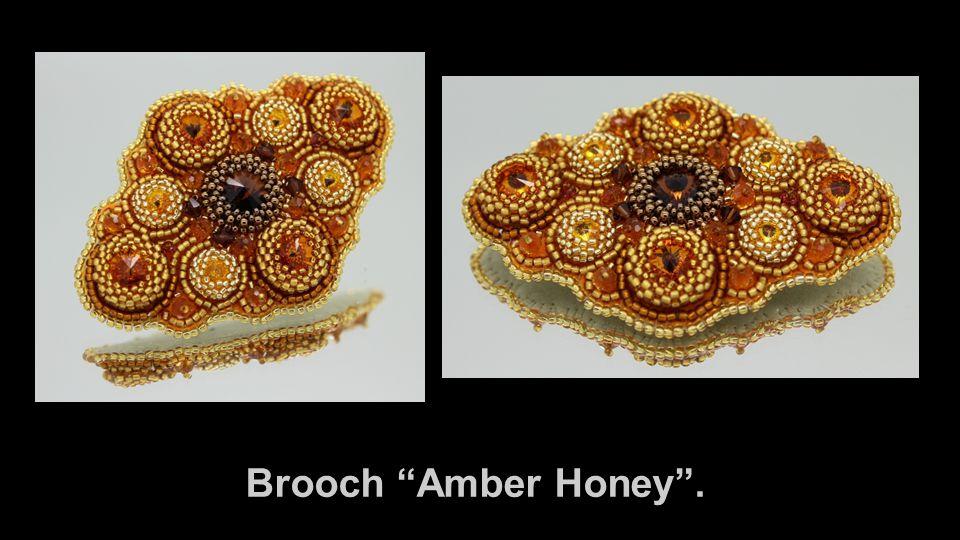 Brooch Amber Honey .