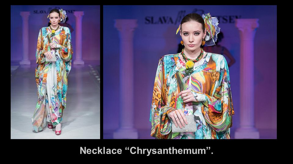 Necklace Chrysanthemum .