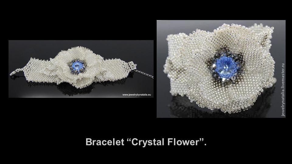 Bracelet Crystal Flower .