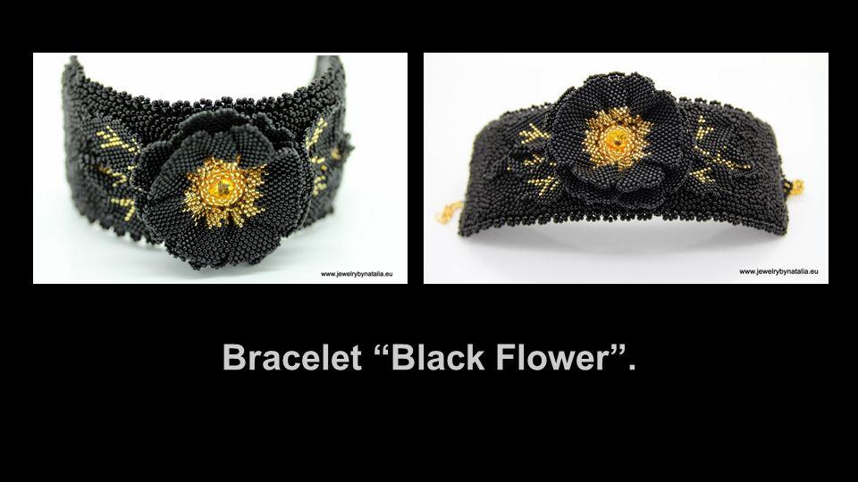 Bracelet Black Flower .