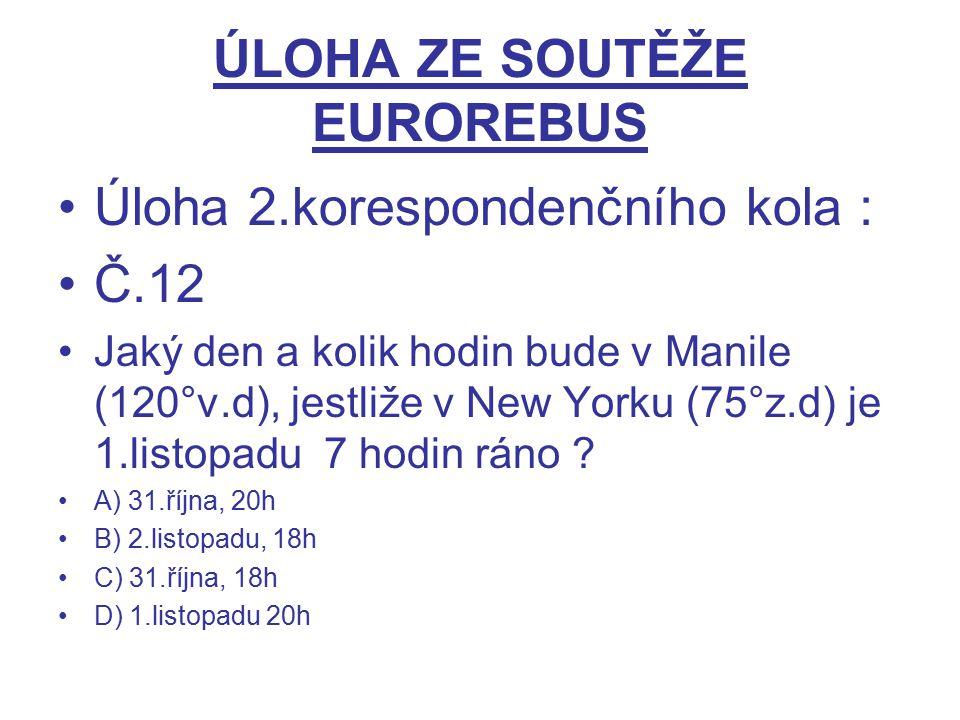 ÚLOHA ZE SOUTĚŽE EUROREBUS
