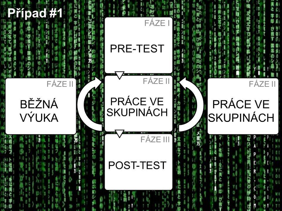 Případ #1 BĚŽNÁ VÝUKA PRE-TEST PRÁCE VE SKUPINÁCH POST-TEST FÁZE I