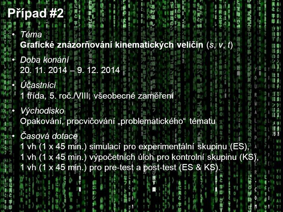 Případ #2 Téma Grafické znázorňování kinematických veličin (s, v, t)