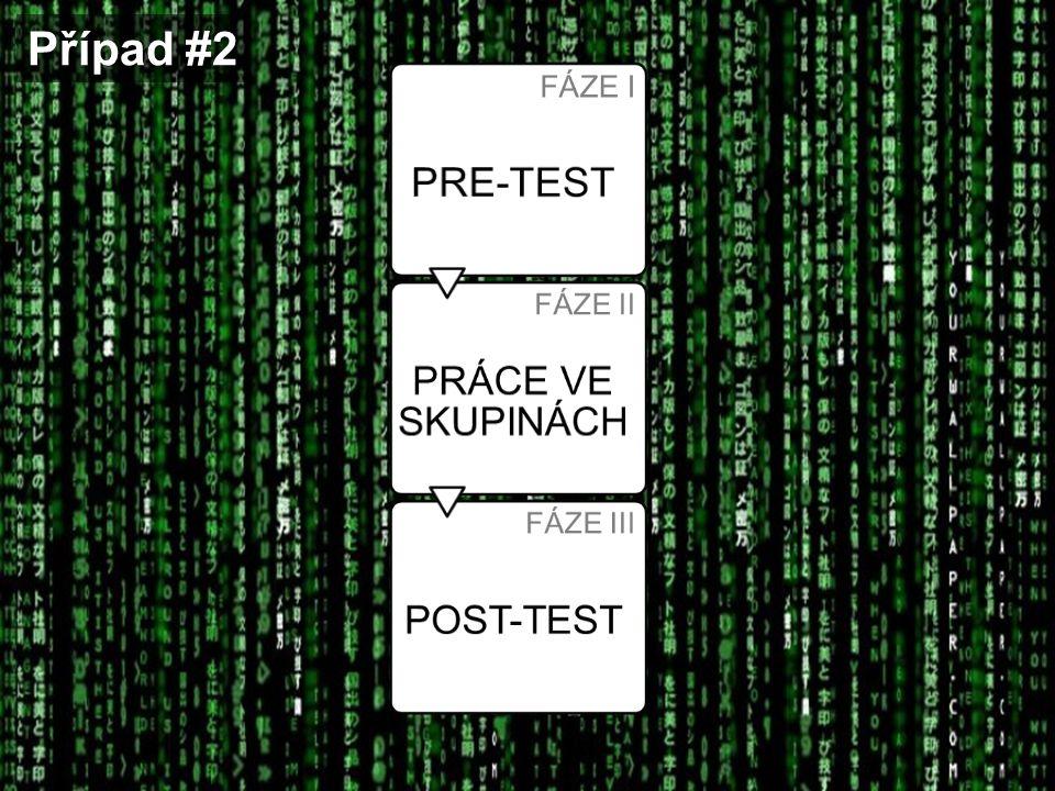 Případ #2 FÁZE I PRE-TEST FÁZE II PRÁCE VE SKUPINÁCH FÁZE III