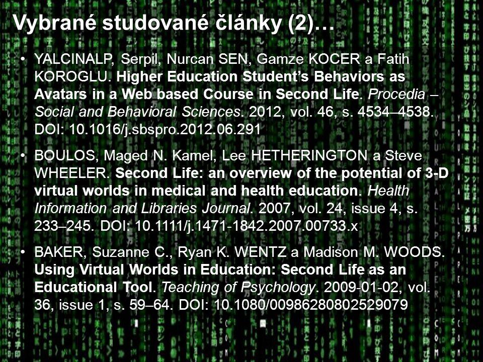 Vybrané studované články (2)…