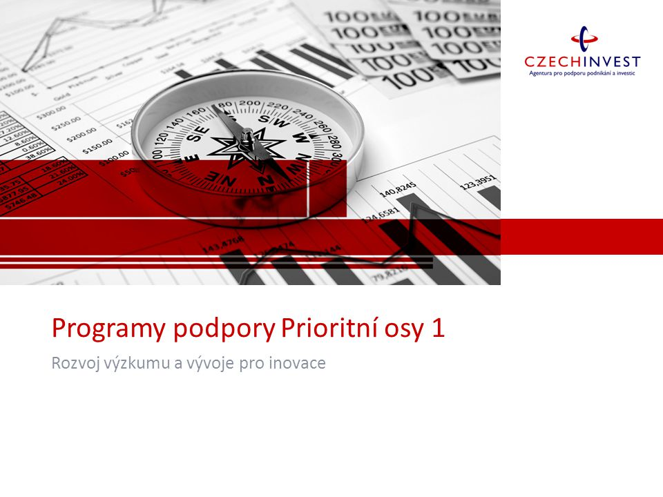 Programy podpory Prioritní osy 1