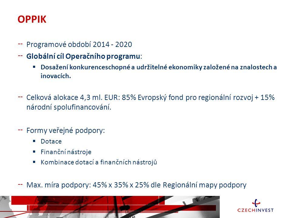 OPPIK Programové období 2014 - 2020 Globální cíl Operačního programu: