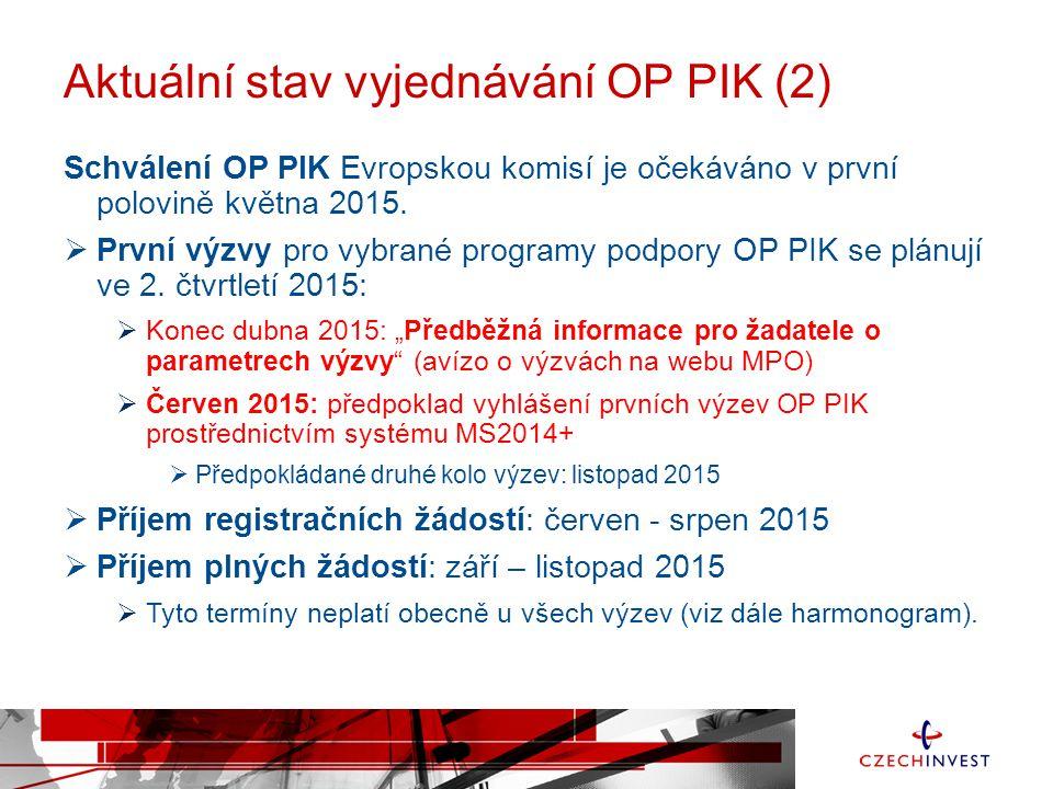 Aktuální stav vyjednávání OP PIK (2)