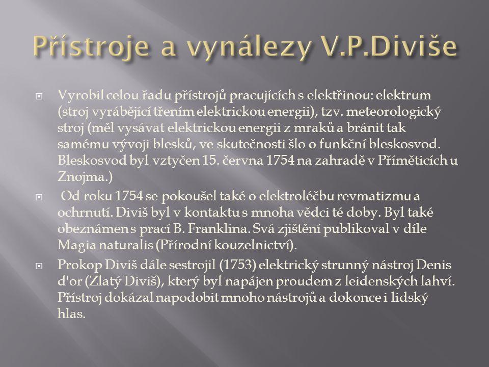 Přístroje a vynálezy V.P.Diviše