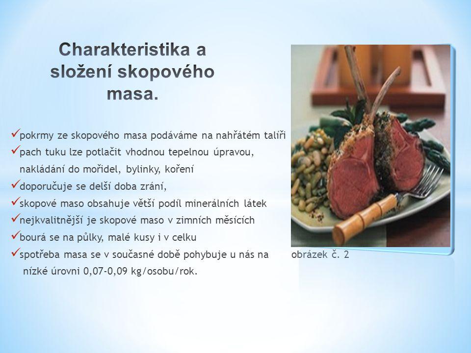 Charakteristika a složení skopového masa.