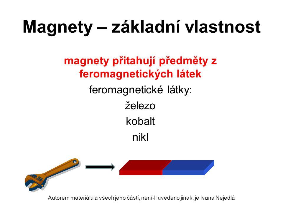 Magnety – základní vlastnost
