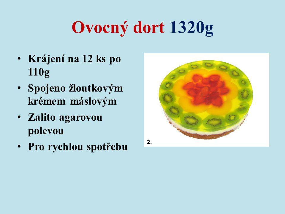 Ovocný dort 1320g Krájení na 12 ks po 110g