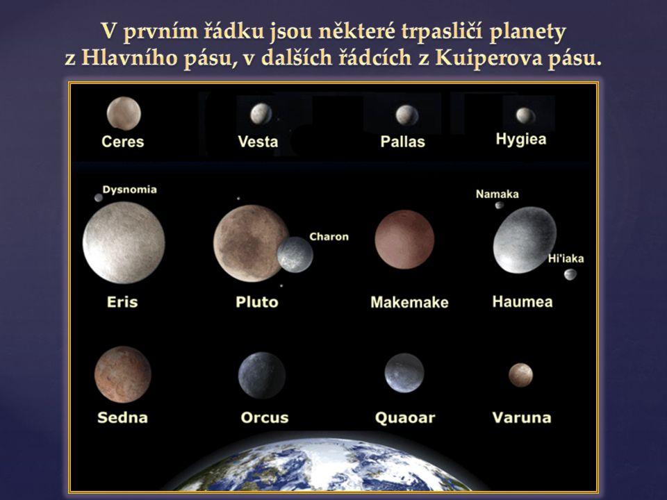 V prvním řádku jsou některé trpasličí planety