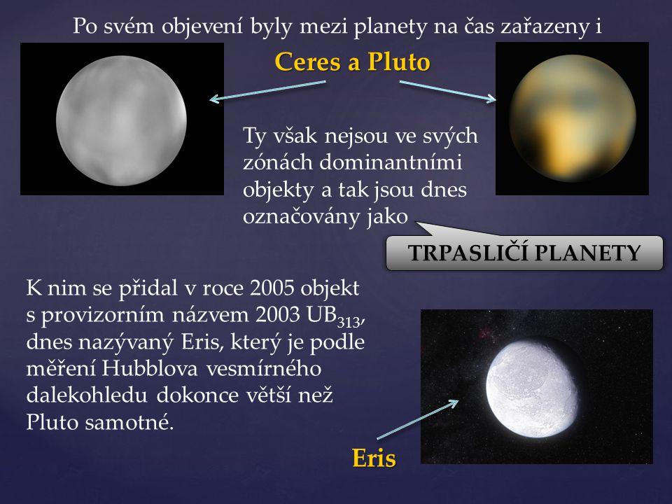 Po svém objevení byly mezi planety na čas zařazeny i
