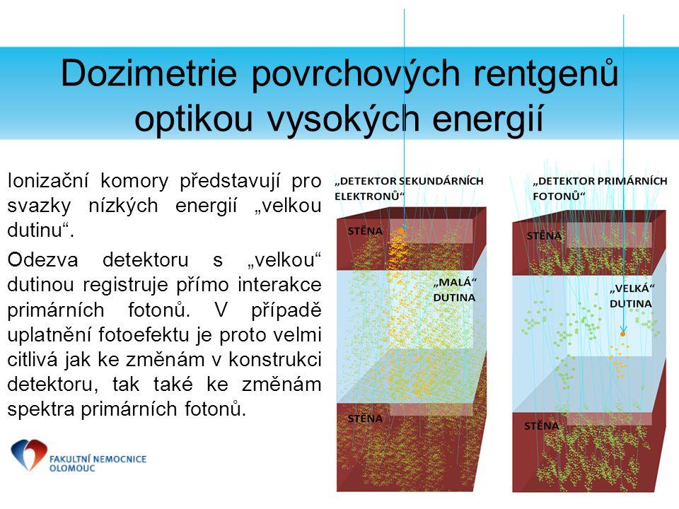 Dozimetrie povrchových rentgenů optikou vysokých energií