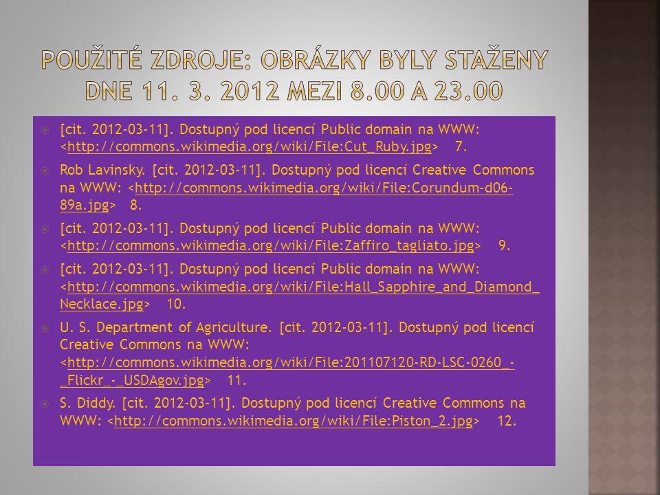 Použité zdroje: Obrázky byly staženy dne 11. 3. 2012 mezi 8.00 a 23.00