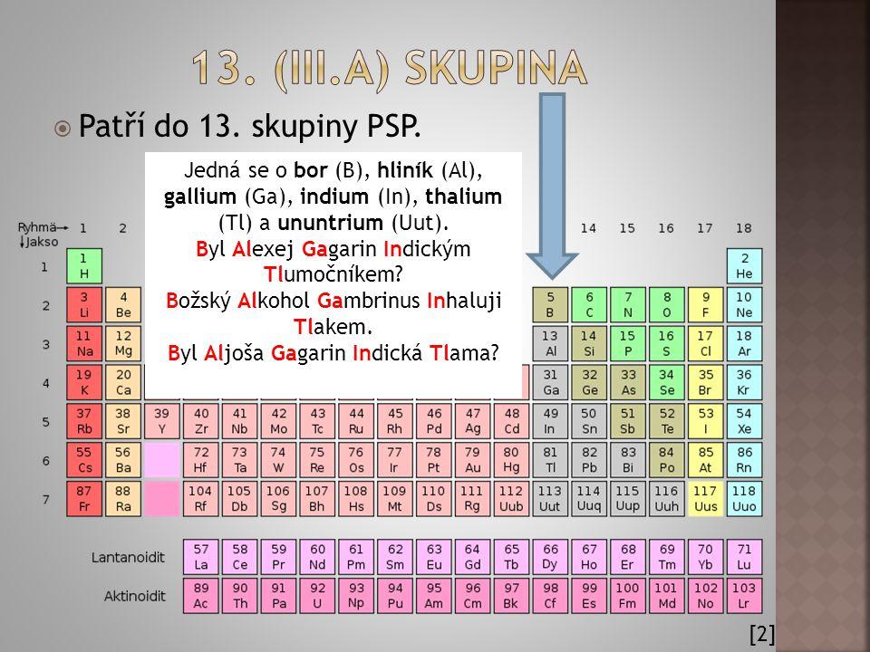 13. (iII.A) skupina Patří do 13. skupiny PSP.