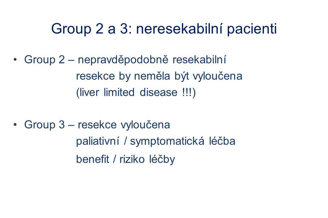 Group 2 a 3: neresekabilní pacienti
