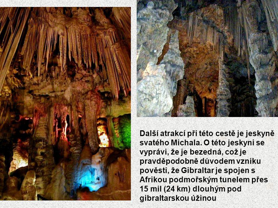 Další atrakcí při této cestě je jeskyně svatého Michala