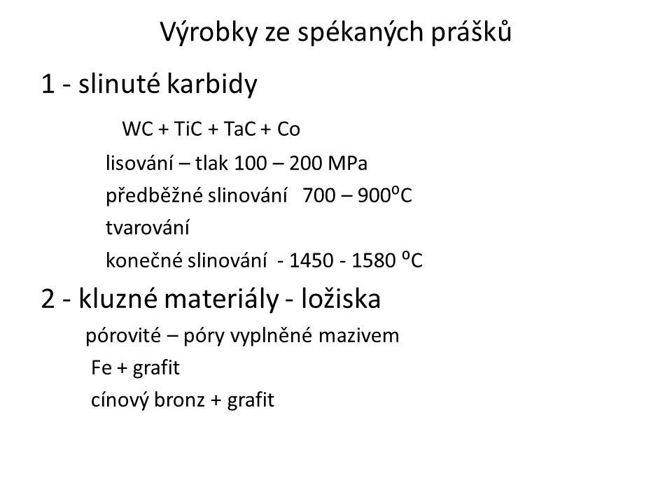 Výrobky ze spékaných prášků