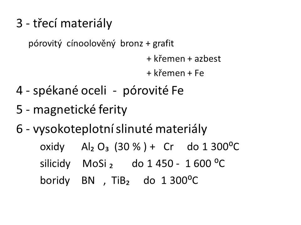 pórovitý cínoolověný bronz + grafit