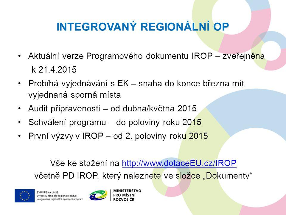 Integrovaný regionální OP