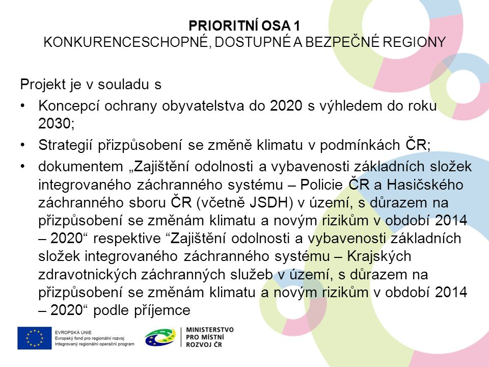 Konkurenceschopné, dostupné a bezpečné regiony