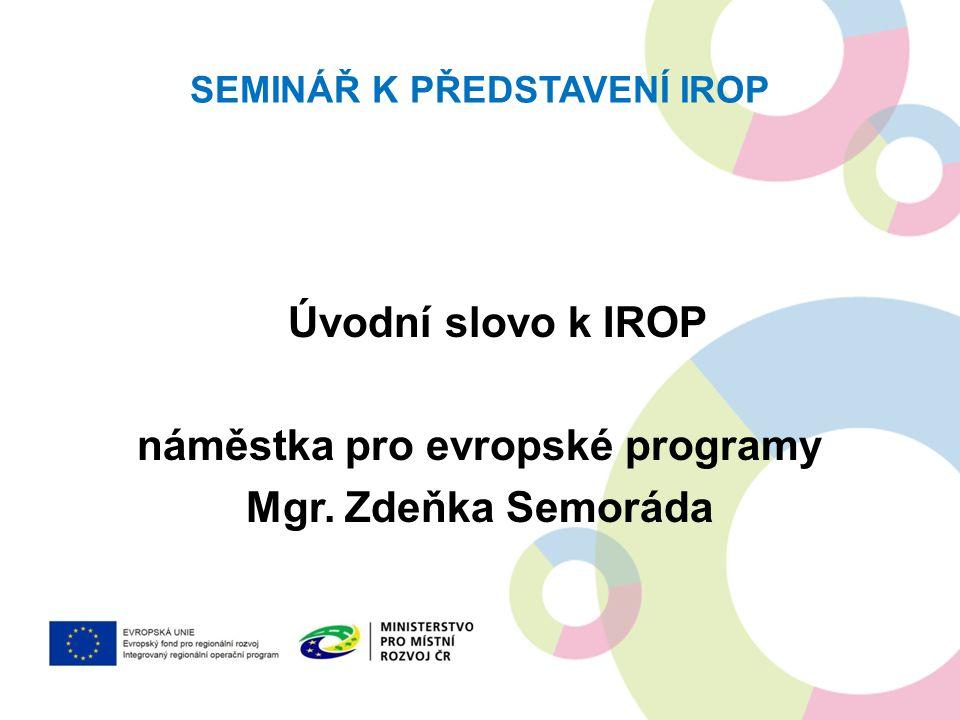 Seminář k představení IROP
