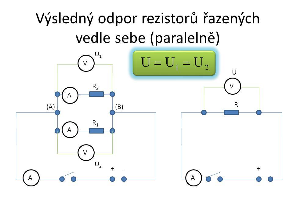 Výsledný odpor rezistorů řazených vedle sebe (paralelně)