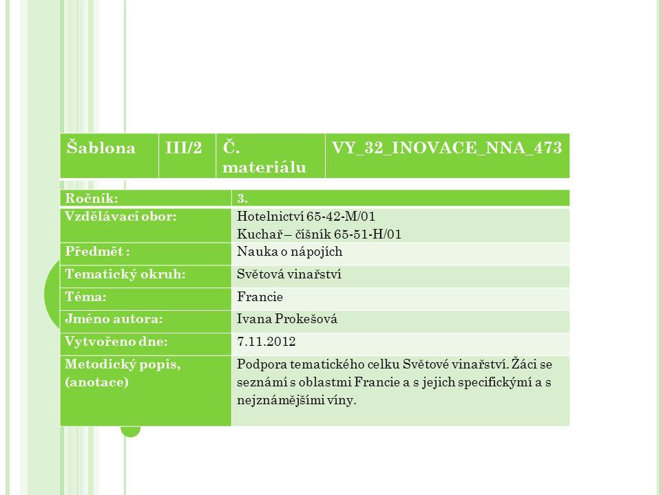 Šablona III/2 Č. materiálu VY_32_INOVACE_NNA_473 Ročník: 3.