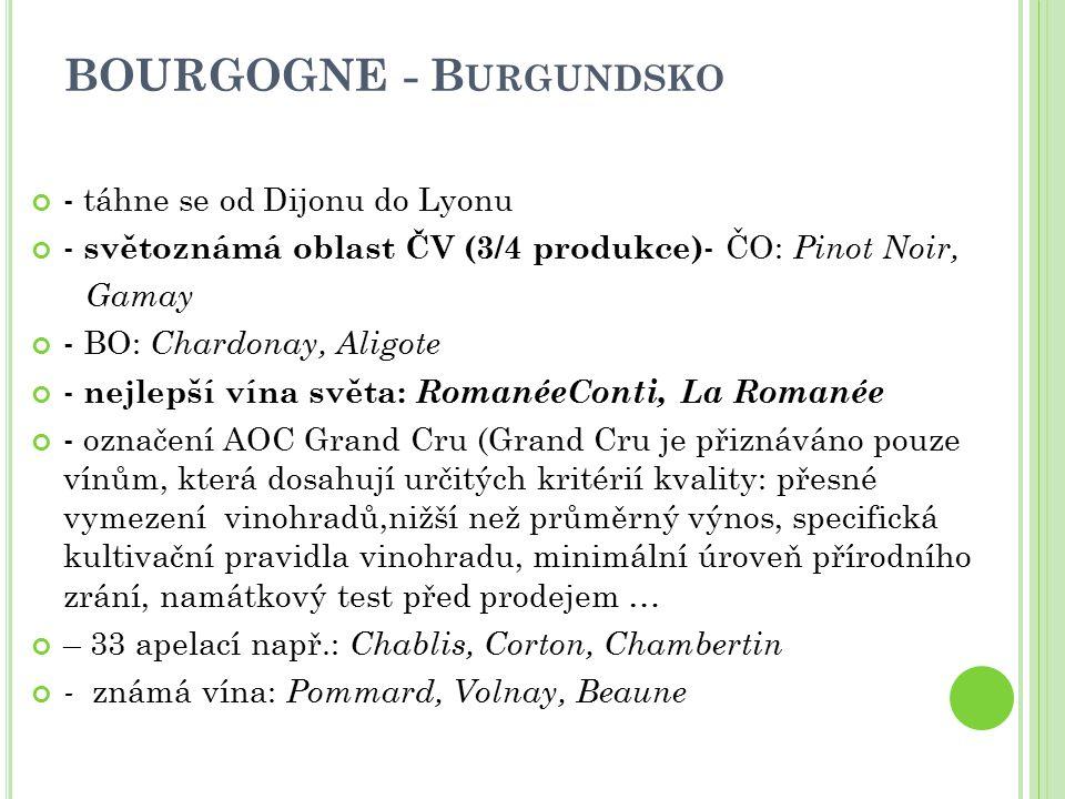 BOURGOGNE - Burgundsko